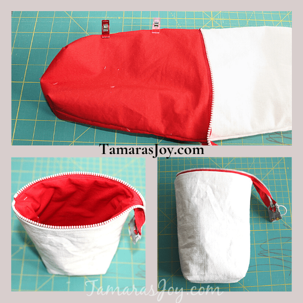 Turn Pouch Right Sides Out