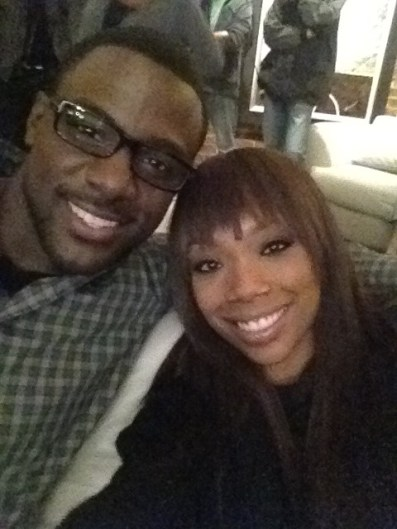 Lance Gross and Brandy Norwood on the Set of The Marriage Counselor