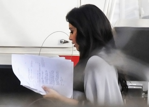 Kim K on the Set of The Marriage Counselor
