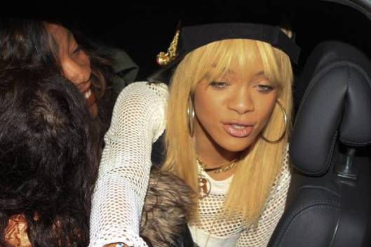 Rihanna Parties in London