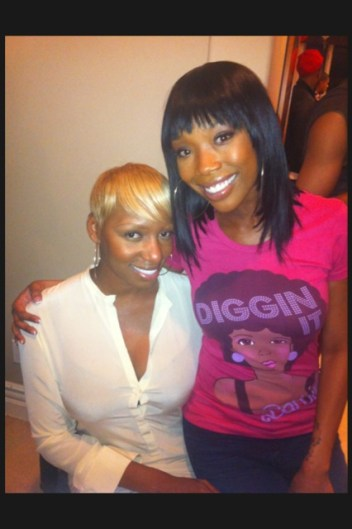 Nene Leakes Spends Superbowl Sunday with Brandi Norwood.