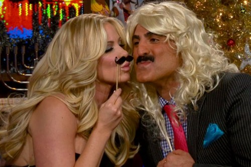 Kim Zolciak and Reza Farahan on WWHL