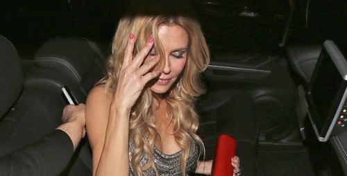 Brandi Glanville celebrates her birthday at Flemings restauran