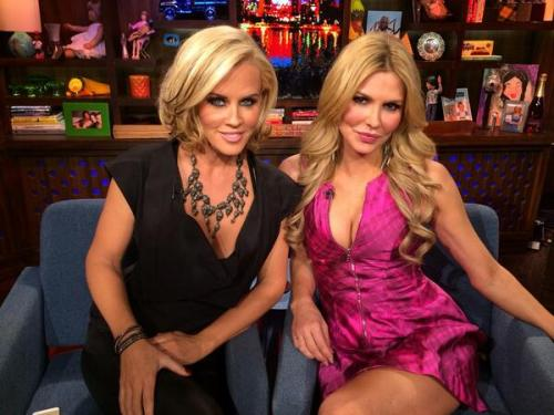 WWHL WIth Brandi Glanville and Jenny McCarthy 2014 Andy Cohen
