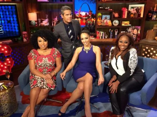 Watch What Happens Live With Blood Sweat &Heels Girls: Demetria Lucas, Geneva S. Thomas  & Melyssa Ford