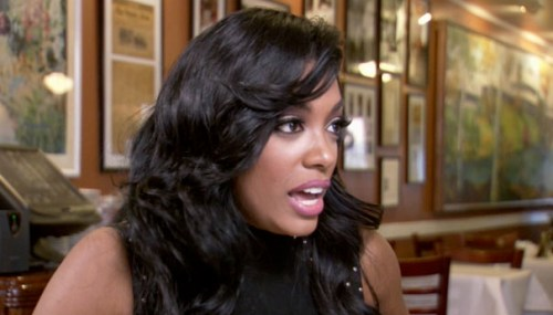 This is Porsha's hair fighting on her forehead at Mary Mac's Tea Room