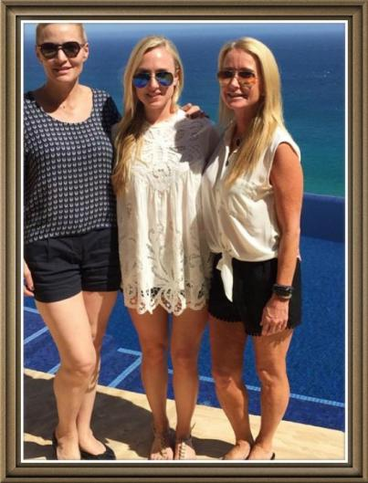 Brooke planning the wedding in Cabo back in March with her mom and MIL.