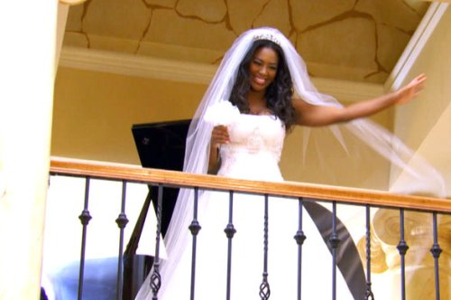 RHOA Kenya  Twirls Wedding Gown