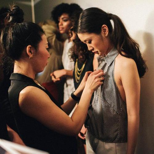 See the lady on the left? That is Terry Mera, the designer of theSonja New York line. Funny how Sonja has never acknowledged her, no?