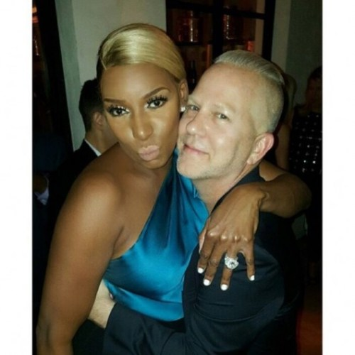 Nene Leakes and Ryan Murphy at Pre Emmys Party
