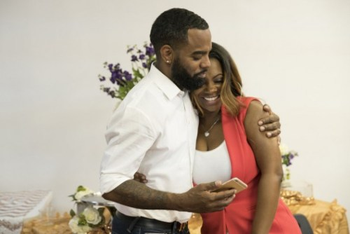 THE REAL HOUSEWIVES OF ATLANTA -- Pictured: (l-r) Todd Tucker, Kandi Burruss -- (Photo by: Mark Hill/Bravo)