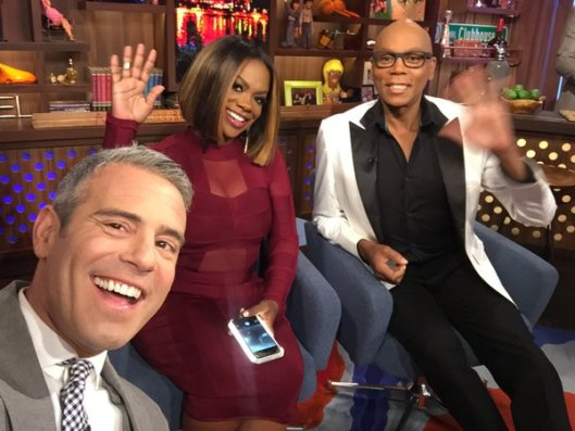 Kandi Burruss  and RuPaul on WWHL