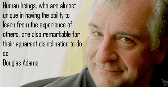 learn frm others douglas adams
