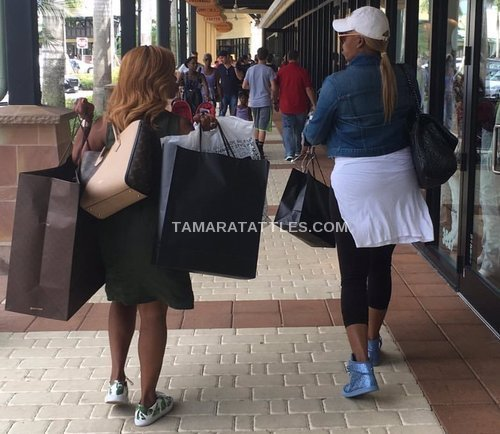 Nene and her MLM partner at the Outlet Mall in Miami