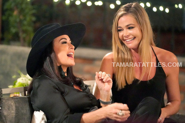 RHOBH Recap S9 EP Kyle Richards and Denise Richards Laughing