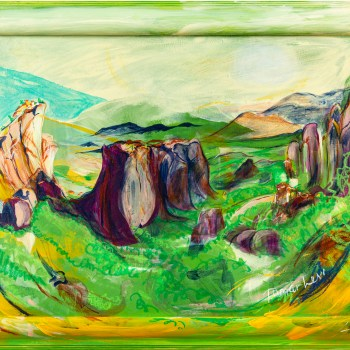 Painting of Meteora, Greece