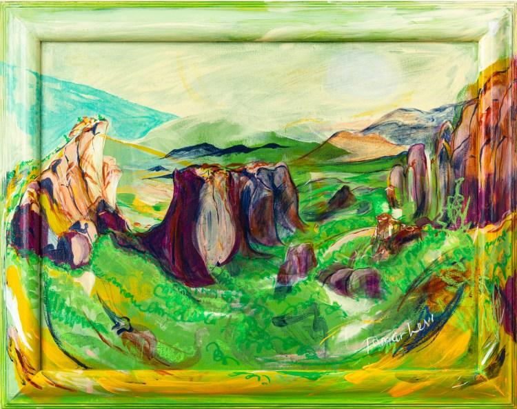 Painting of Meteora, Greece