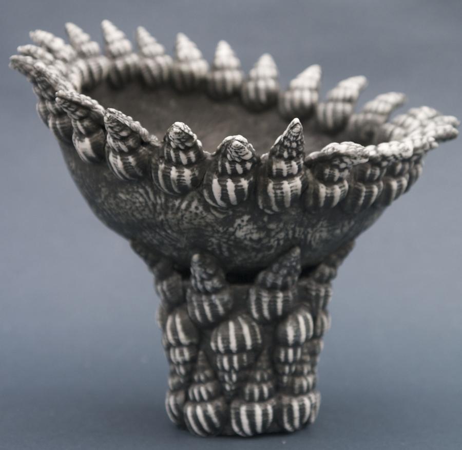 Tamar Rose - tall bowl - black velvet_sm
