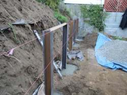 Tamate Landscaping - Support Structure for Retaining Wall