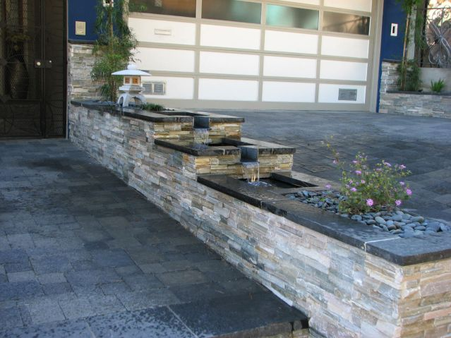 front yard divider three tier fountain