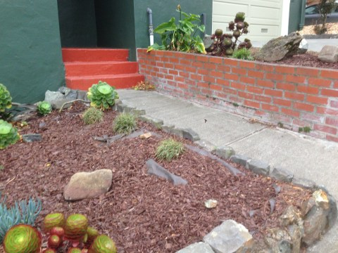 Before landscaping of the front yard, Noe Valley landscaping project