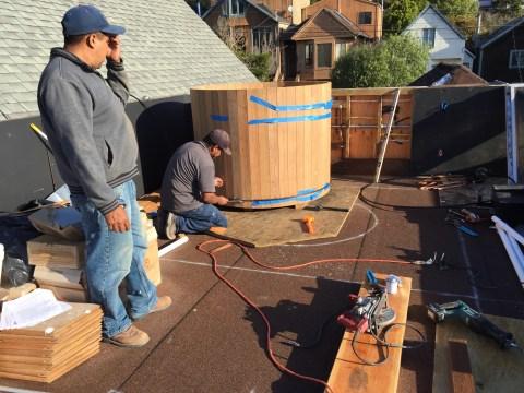 Castor, Installing a Western Cedar Hot Tub
