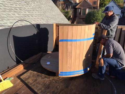 Castro, Installing a Western Cedar Hot Tub