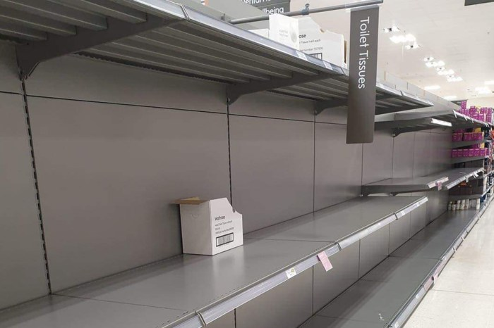 Panic buying but no food shortages in the UK - Tamebay