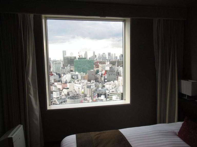 渋谷エクセルホテル東急の客室からの眺め