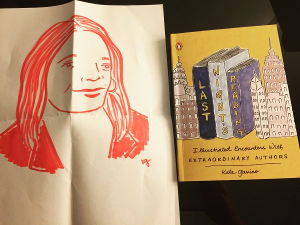 Author & Illustrator Kate Gavino Sketch of me at Book Riot Live