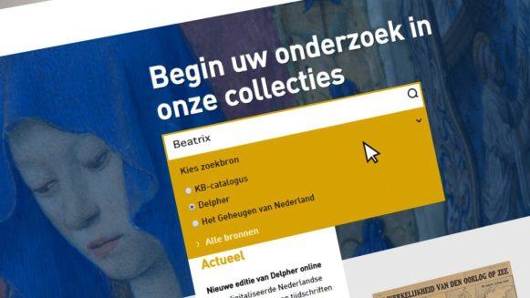 Website Koninklijke Bibliotheek