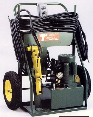 Model 43 Hydraulic Push Over Machine Bar Over Jack- Tame Tools EMD and GE Diesel engine maintenance