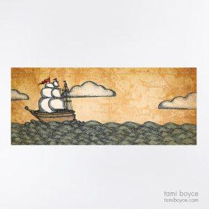 Boat, Waves Series