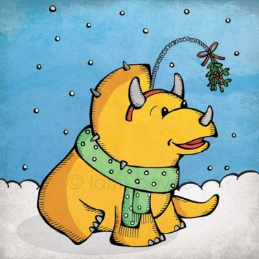 triceratops christmas holiday