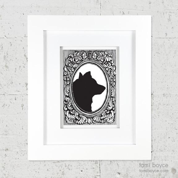 Dog/Wolf Silhouete