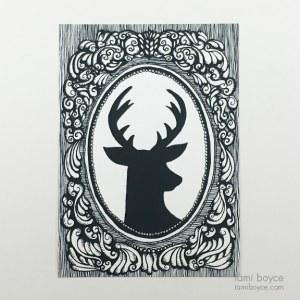 Deer Silhouette, Cameo Series
