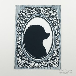 Hedgehog Silhouette, Cameo Series