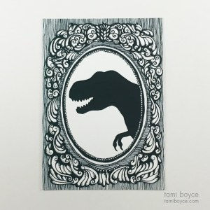 T-Rex Silhouette, Cameo Series