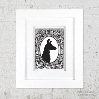 3_llama on wall