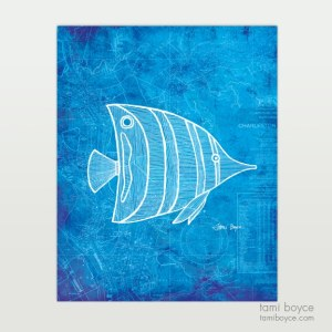 Angelfish, Aquatic Series, Charleston Nautical Map
