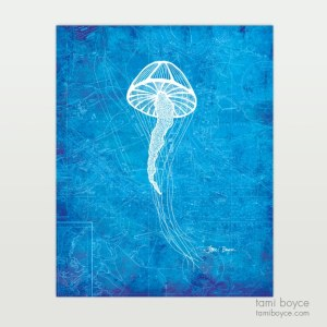 Jellyfish, Aquatic Series, Charleston Nautical Map