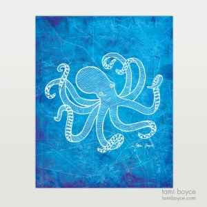 Octopus, Aquatic Series, Charleston Nautical Map