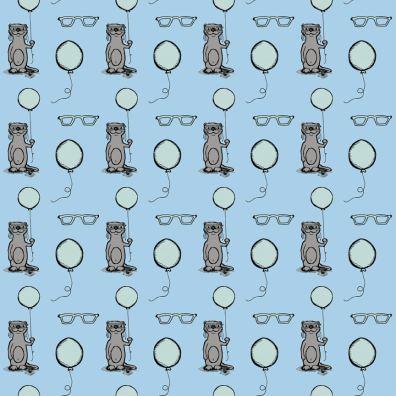 Otter Pattern in Green blue