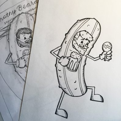 Cucumber Thyme Sketch