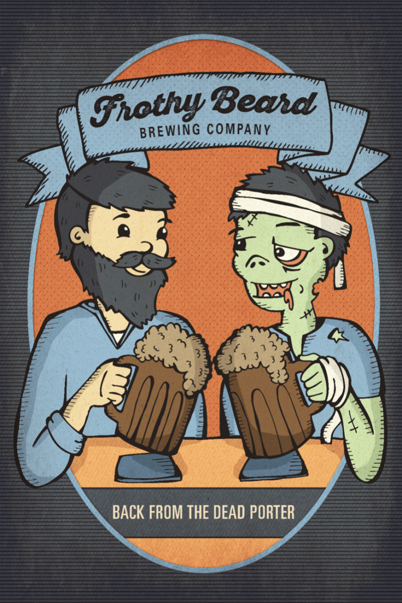 Frothy Zombie Poster