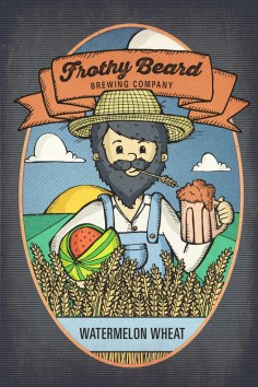 Frothy Watermelon Wheat Poster