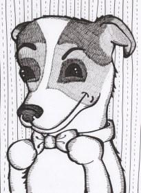 Inked Pet portrait 2