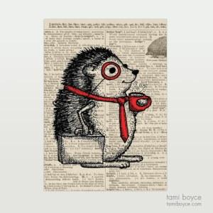 """Hedgehog, """"Archie Prickles"""", Monocle"""