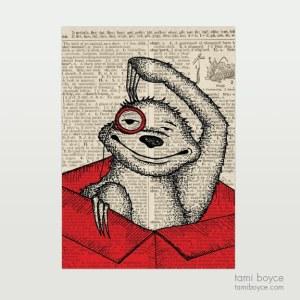 "Sloth, ""Leonard"", Monocle"