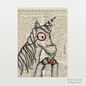 "Unicorn, ""Ernest"", Monocle"
